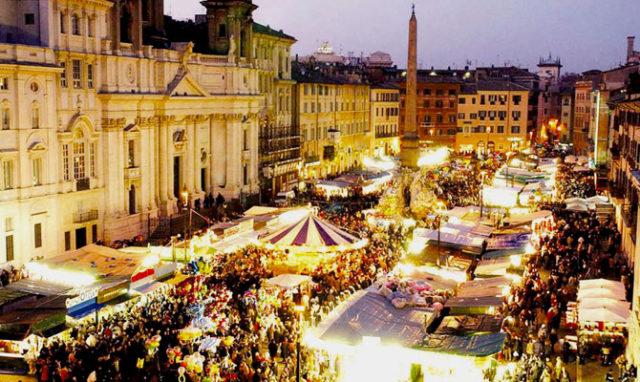 mercatino natale piazza