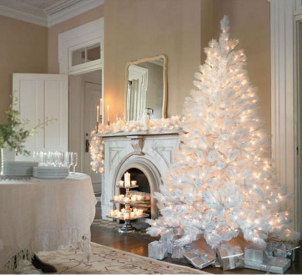 Albero Di Natale Bianco E Oro.Addobbi Per Alberi Di Natale Alberi Verdi Rossi Bianchi