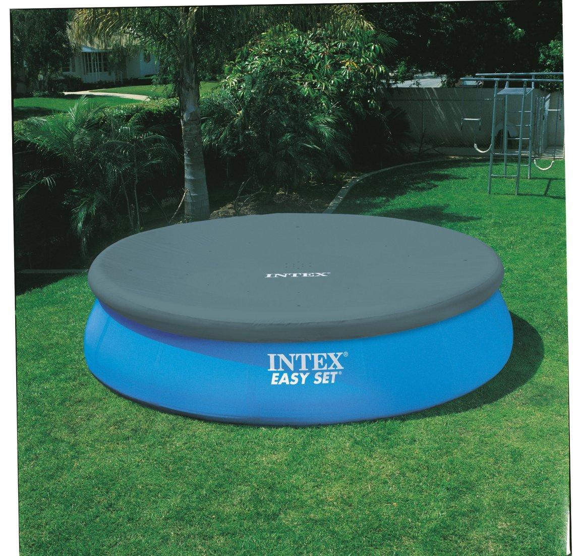 Piscina gonfiabile intex 28168 26168 easy rotonda pompa filtro scaletta - Telo copertura piscina intex ...