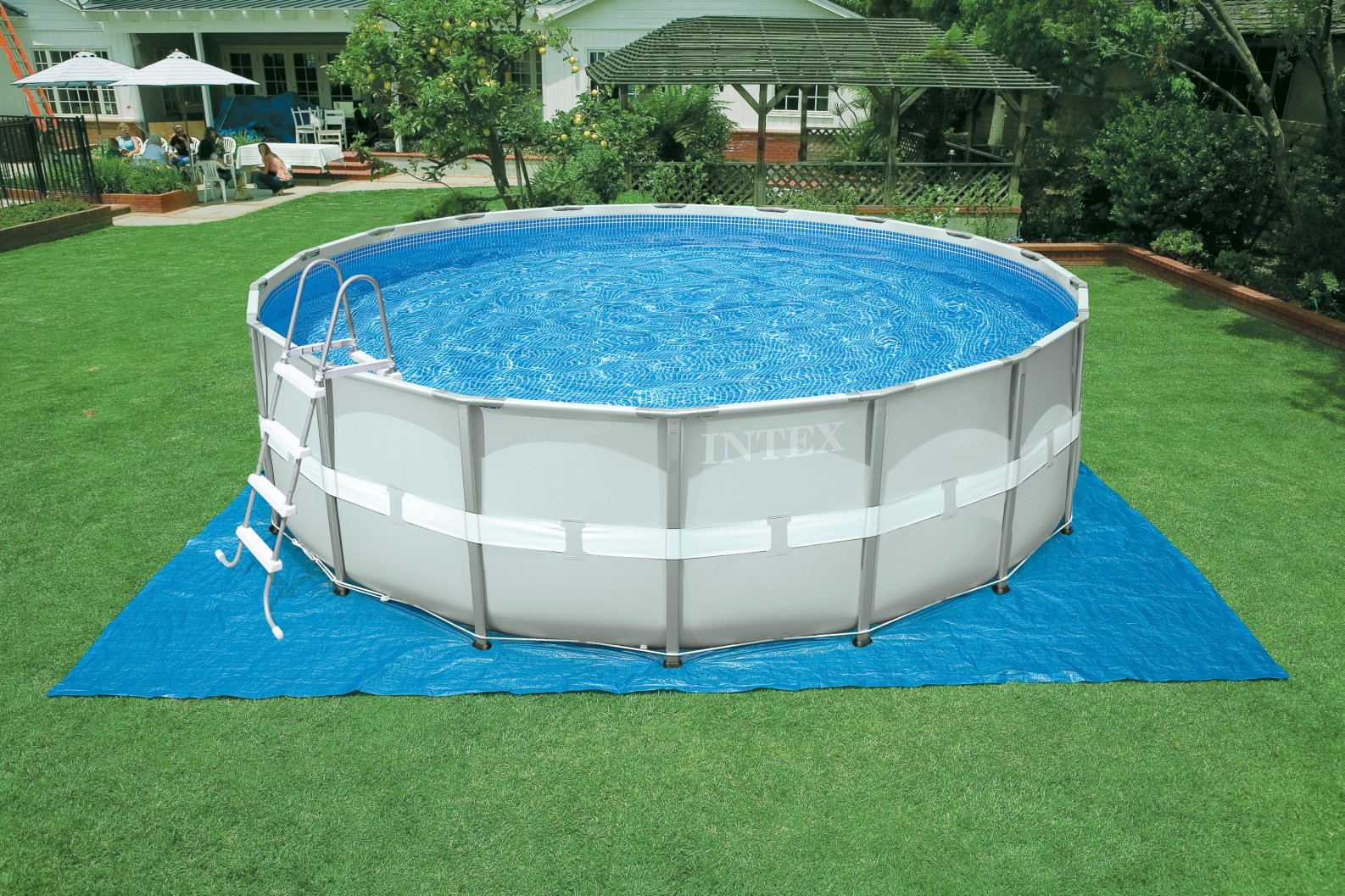 Piscina ultra frame rotonda intex 28324 for Alberca intex