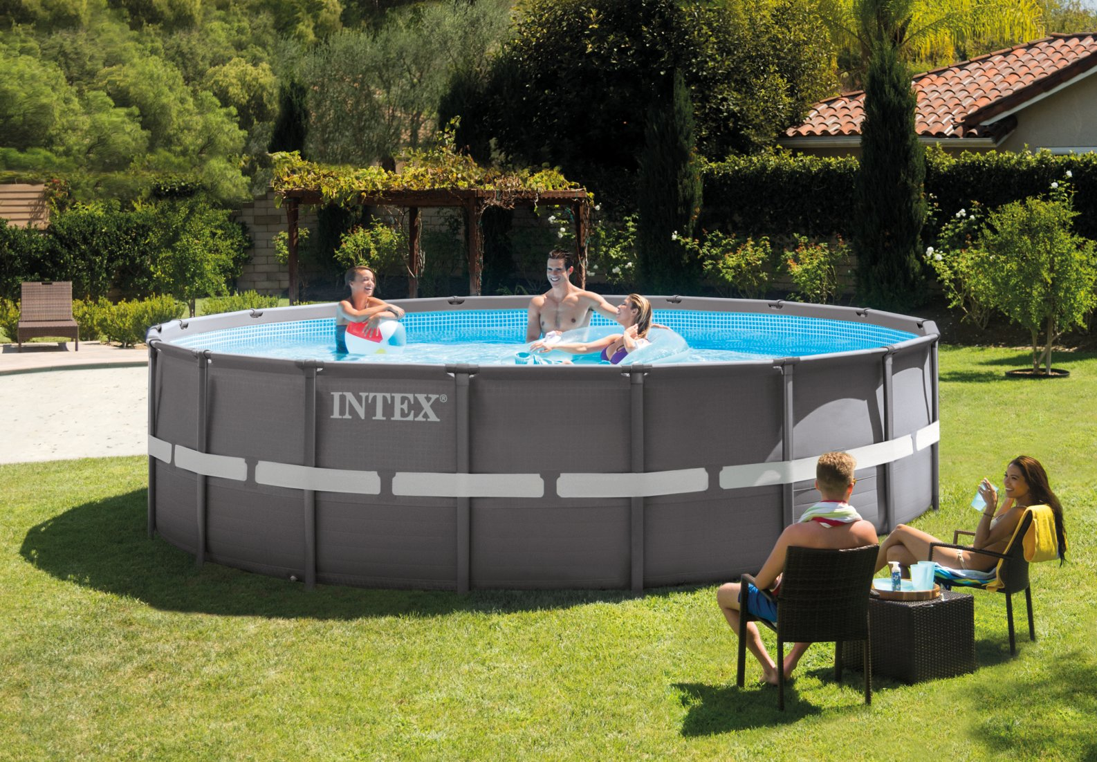 Piscina fuori terra intex 28336 ultra frame pompa for Prezzi piscine intex