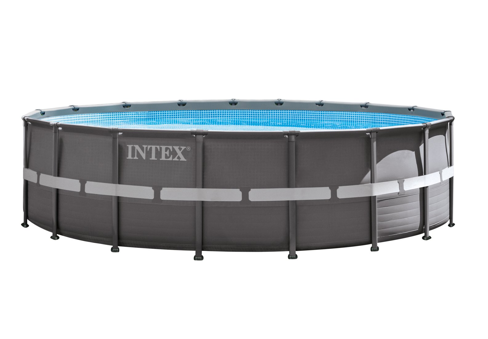 Piscina fuori terra intex 28336 ultra frame pompa for Swimming pool 4 eckig