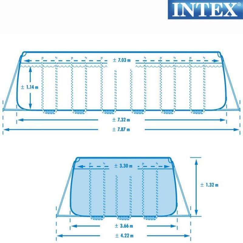 Piscina fuori terra intex 28366 ultra frame pompa for Pompa x piscina esterna
