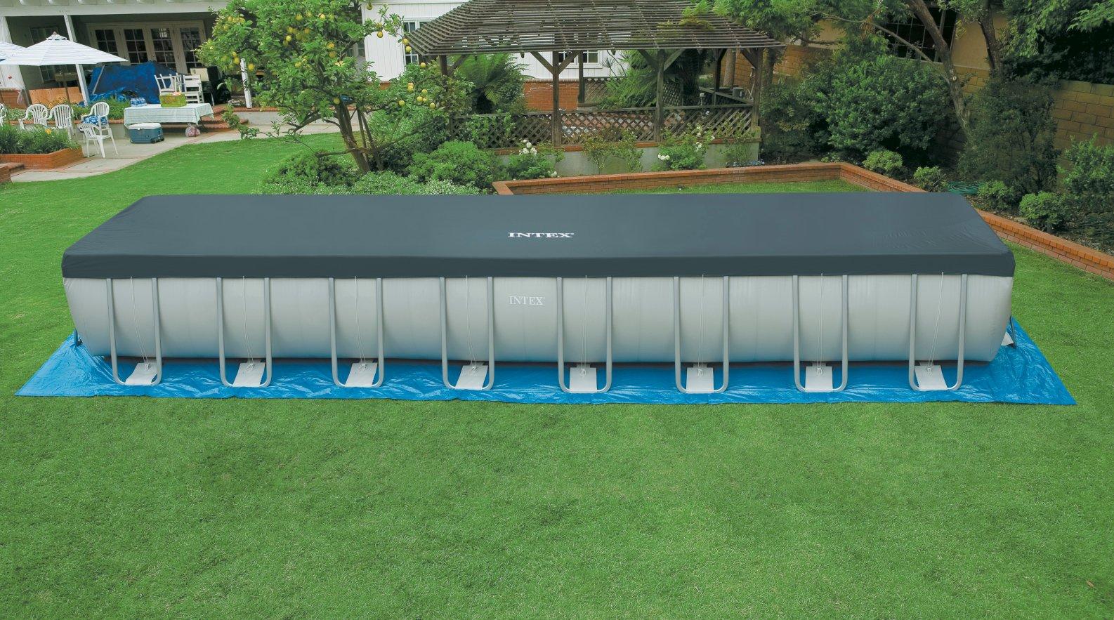 Intex 28372 piscina fuori terra rettangolare 9mt for Piscine in offerta