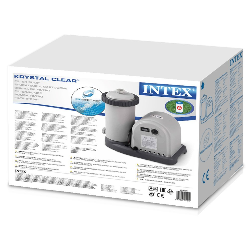 Intex pompa filtro per piscina easy ultra frame cm 549 mt for Filtro piscina intex