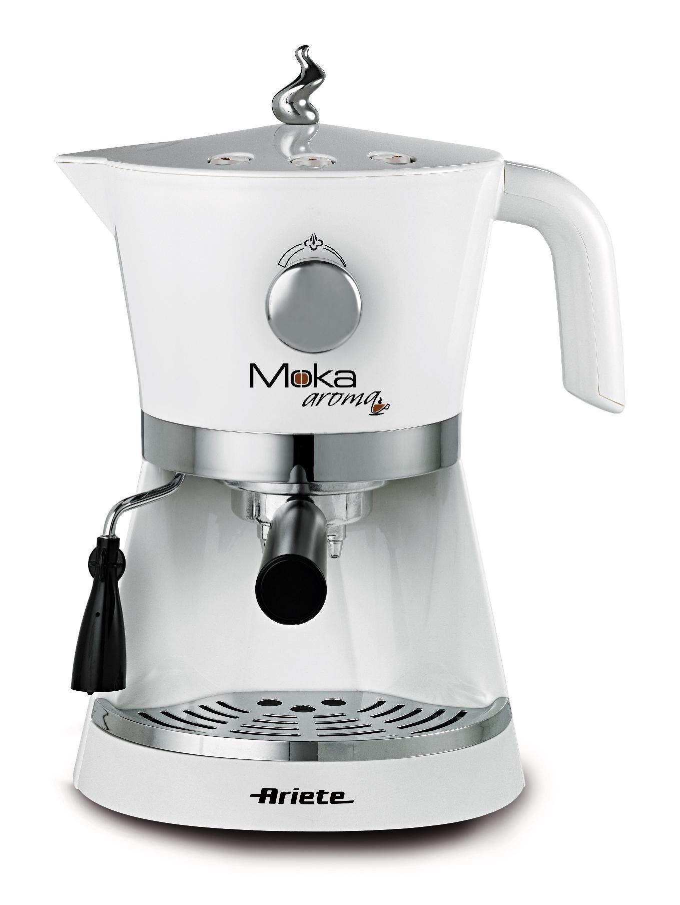 Ariete macchina caffe 39 moka aroma espresso caff bianca for Ariete elettrodomestici
