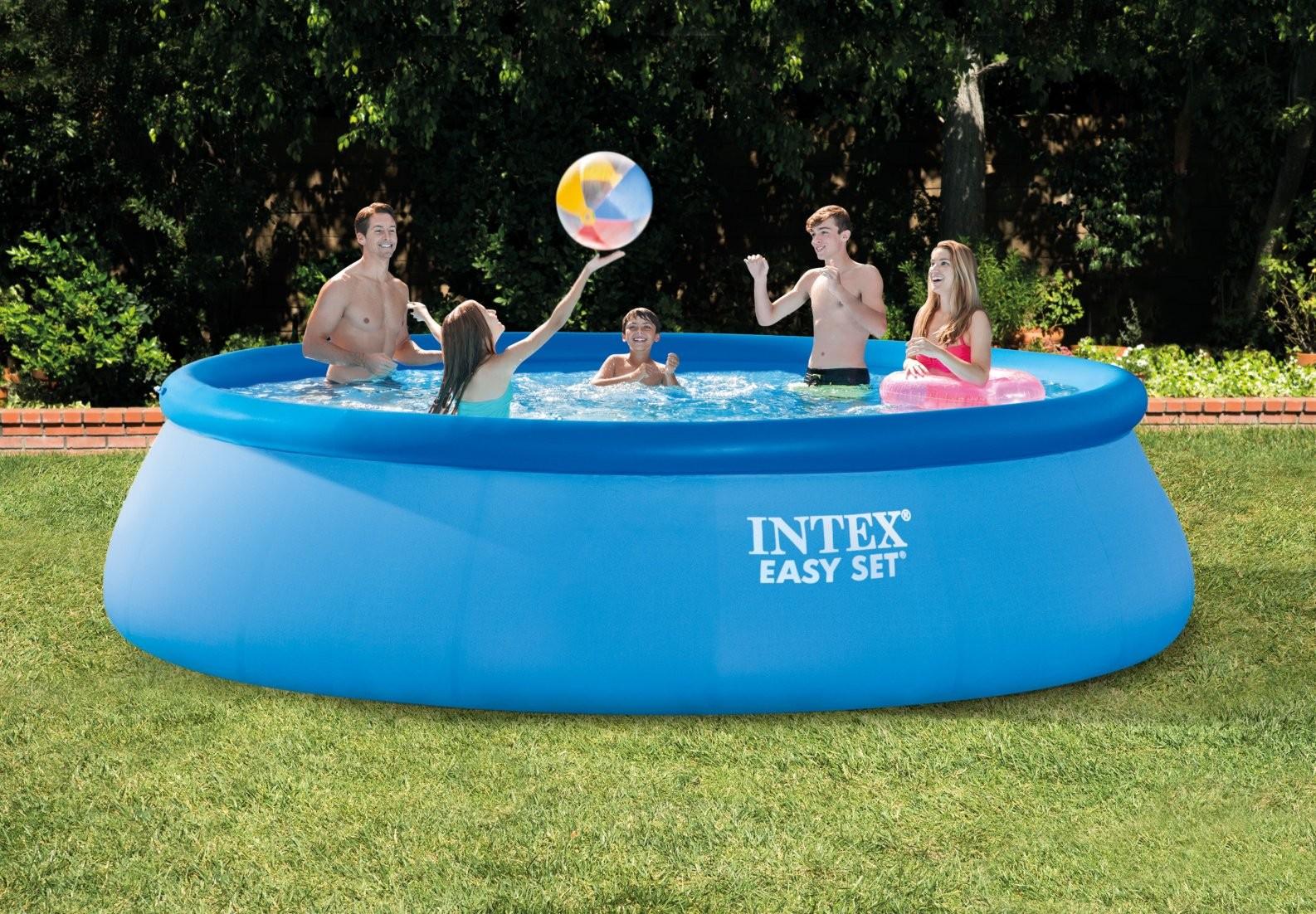 Intex 28166 piscina easy rotonda tonda 457 x 107 cm pompa for Easy piscinas