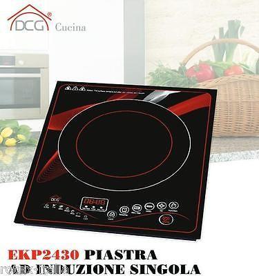 Dcg cottura piastra cucina elettrica induzione fornello singolo ekp2430 - Cucina con piastra elettrica ...
