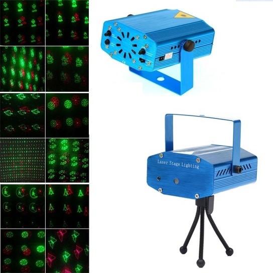 Mini Proiettore Laser Effetto Luci.Proiettore Laser 12 Effetti Luminosi Da Interni Dictrolux 451152