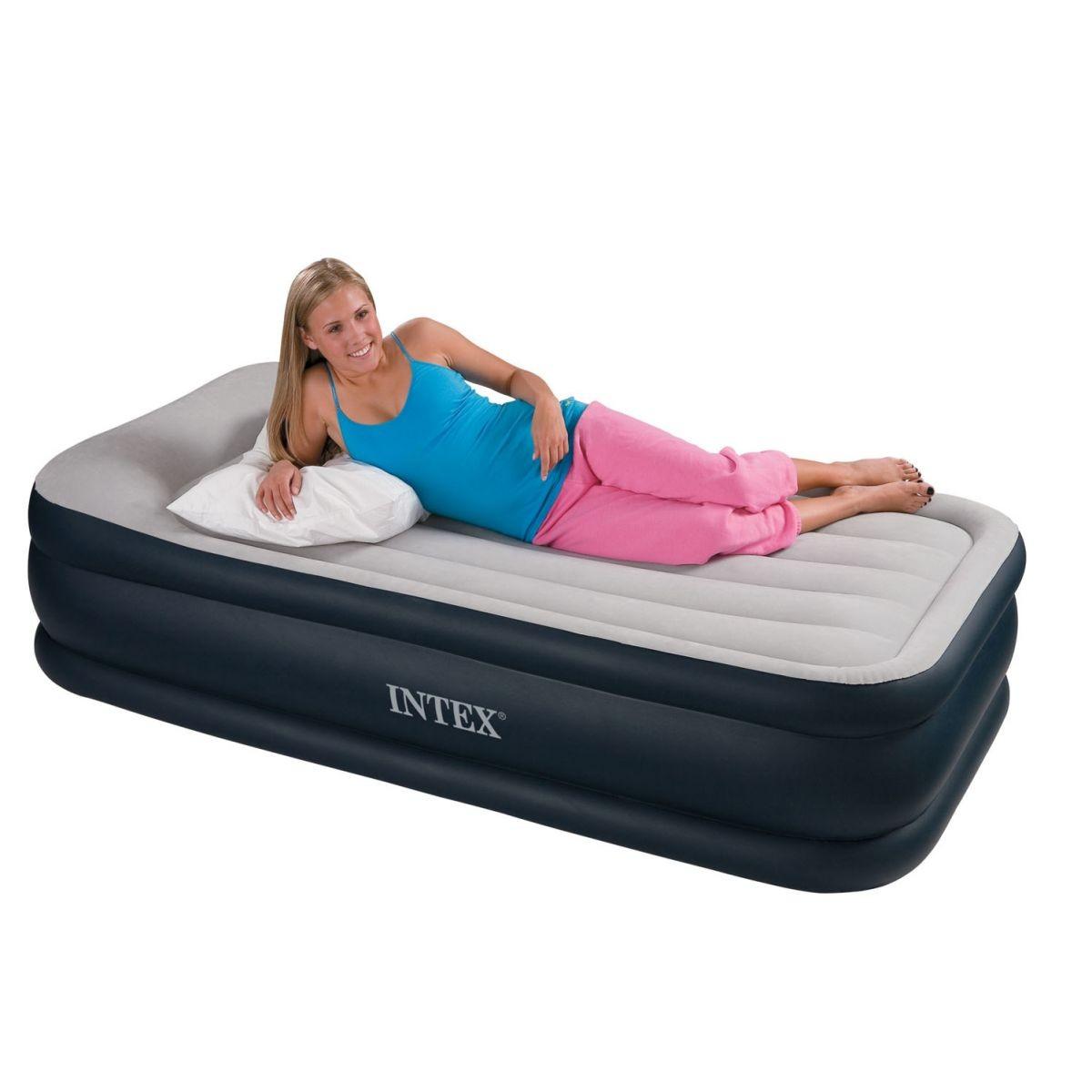 Materasso gonfiabile airbed singolo con pompa bicolor t twin for Prodotti intex