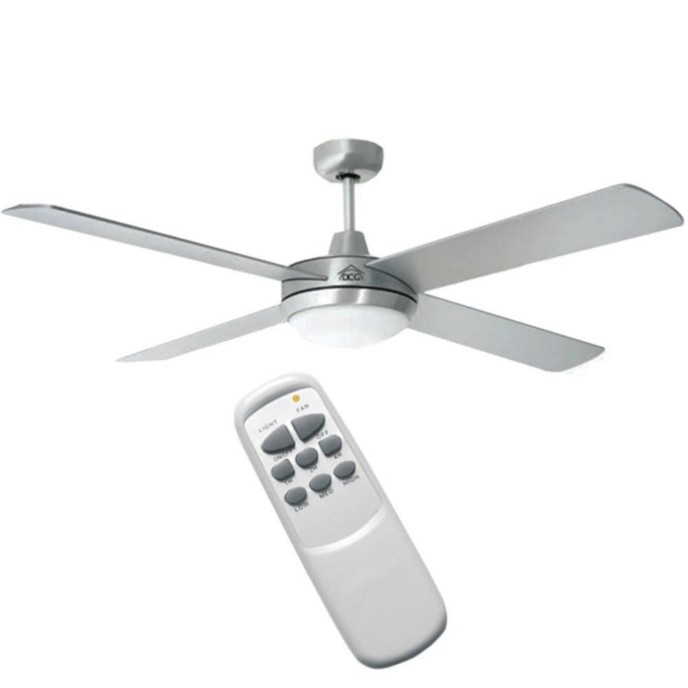 Dcg ventilatore da parete soffitto con 4 pale luce lampada for Ikea ventilatori da soffitto