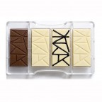 Stampo cioccolatini tavoletta in policarbonato Decora
