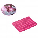 Tappeto silicone 42 macarons cuore Silikomart MAC03