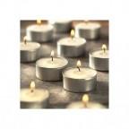 SET 20 CANDELE CON PARAFFINA STOPPINO TEALIGHT CANDELS LUMINI BIANCHI