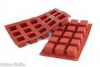 Stampo multiporzioni silicone 15 cubo Silikomart sf 105