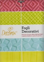 FOGLI DECORATIVI DECORA TORTE DOLCI GEOMETRICI GLASSA FONDENTE 9260210