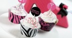 DECORA KIT SET 12 PZ PIROTTINI GLAMOUR PER CUPCAKES MINI MUFFIN DOLCI
