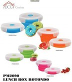 DCG SET 4 LUNCH BOX CONTENITORI IN SILICONE PORTA PRANZO VIVANDE PM 2090