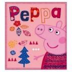 COPERTA PLAID PEPPA PIG SCALDINO CM 100 X 150 CM POLIESTERE PP07203 NEW