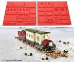 SILIKOMART STAMPO DOLCI SILICONE TRENO NATALE CHRISTMAS MAGIC TRAIN HSH 08