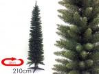 Albero di Natale artificiale slim Monviso cm 210