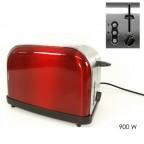 Tostapane rosso 2 fessure 900W