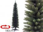 Albero di Natale artificiale slim salvaspazio Monviso folto cm 180