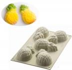 Stampo multiporzione 5 mini ananas 3D silicone Silikomart