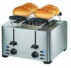 Tostapane in acciaio inox 4 posti Profi cook TA1073
