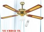 Ventilatore da soffitto con Telecomando + Luce VE CRD 43 TL DCG
