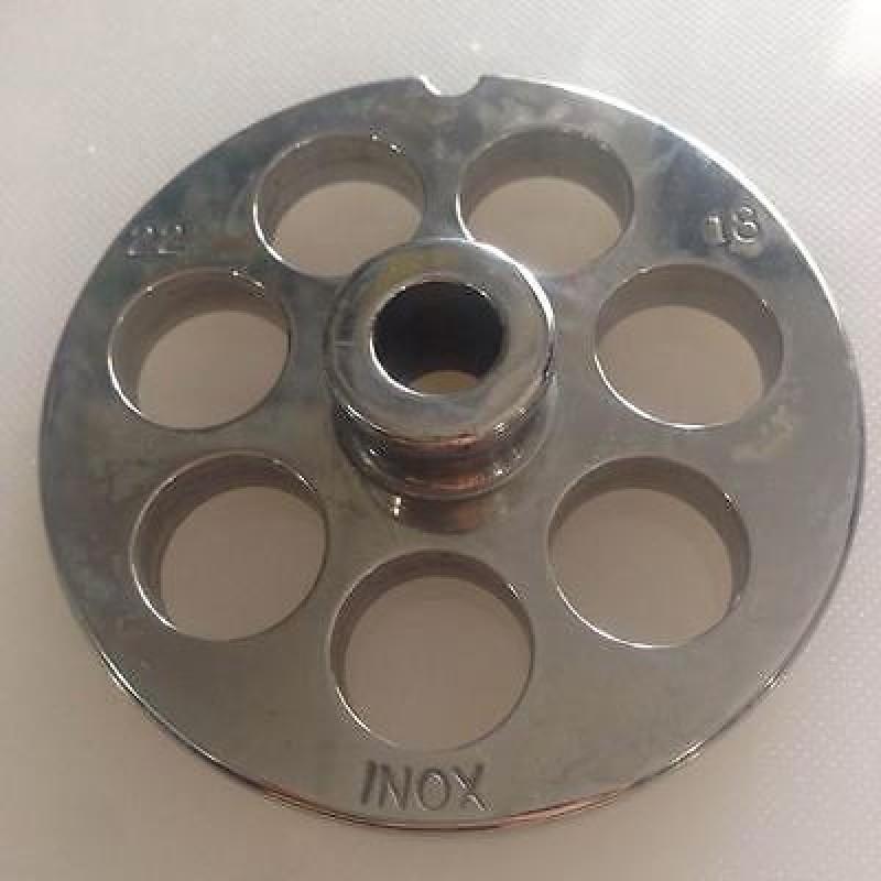 Piastra TC 12 Reber diametro 16 mm acciaio inox per tritacarne elettrico Rotex