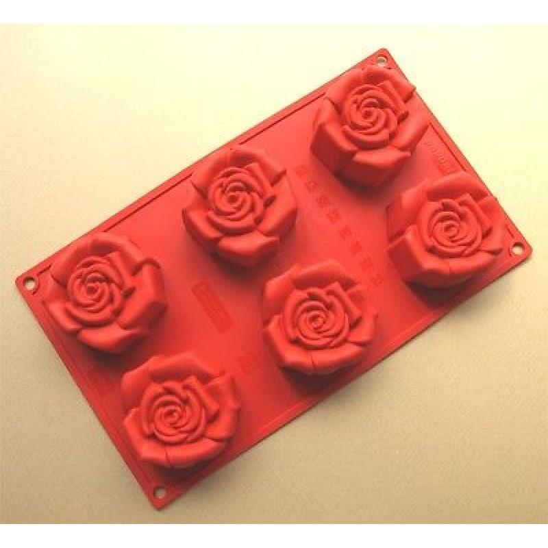 Stampo rosa fiorita Pavoni FR 056 multiporzione muffin stampi silicone Rotex