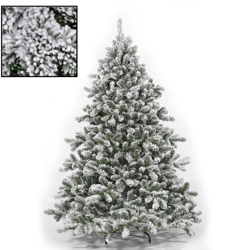 Albero Di Natale.Albero Di Natale Innevato Cm 210 Tirolese