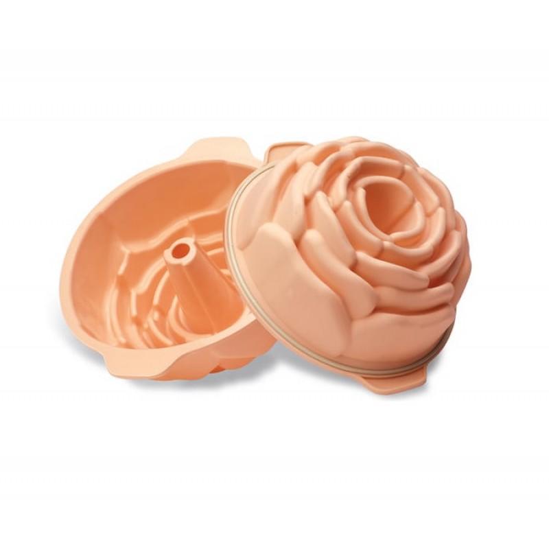silikomart sft 251 stampo in silicone rosa alta diametro 22 cm altezza 10 rotex