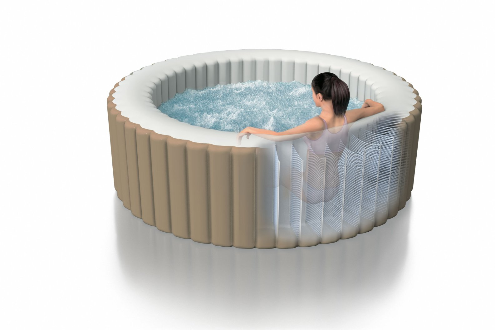Intex 28404 piscina idromassaggio spa modello 28404 pure for Piscinas desmontables verdecora