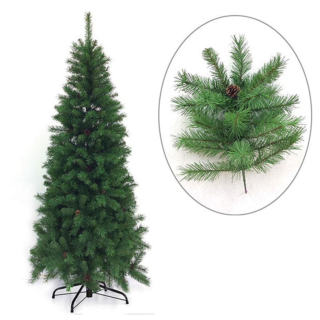 Albero di natale slim artificiale verde cervino cm 230 mt for Obi albero di natale