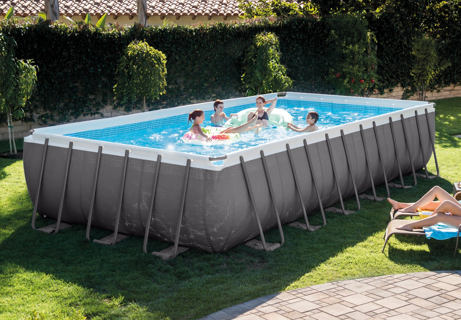Intex 28362 piscina fuori terra 7 metri for Piscina estructural intex