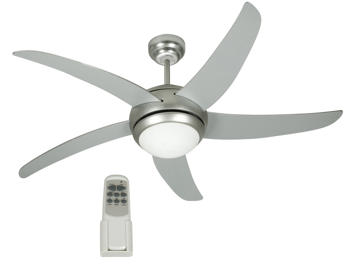 johnson miami ventilatore a soffitto muro 5 pale con luce