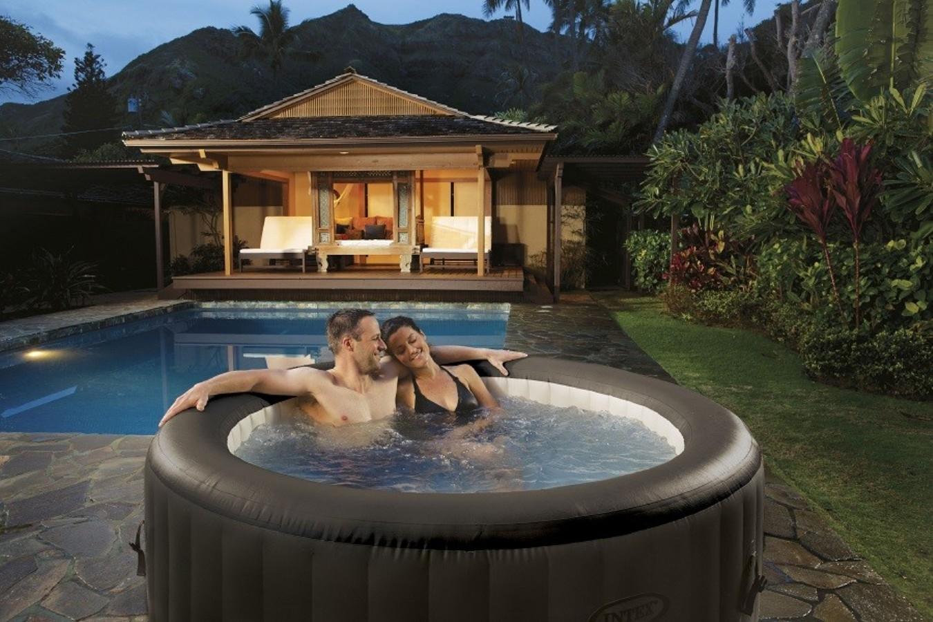 Piscina idromassaggio intex 28422 fuori terra jet massage spa - Piscina spa gonfiabile ...